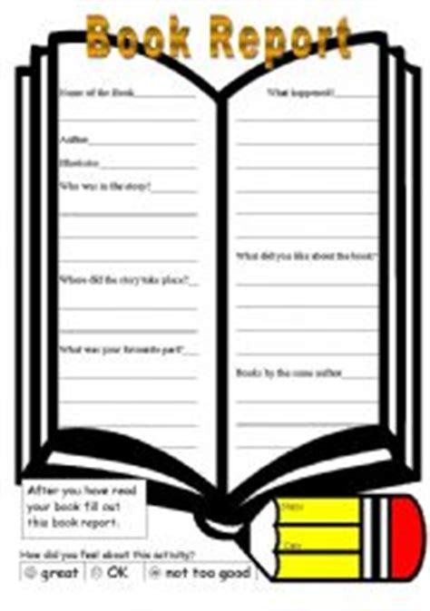 Book Report Second Grade - Printable Worksheets